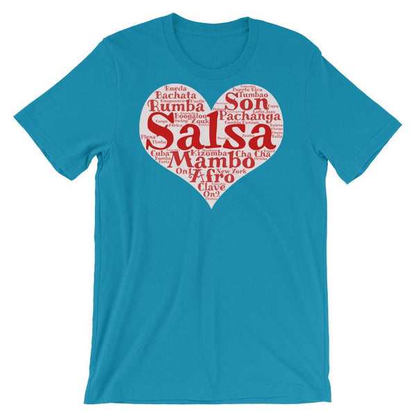 Heart of Salsa - Women's T-Shirt (Aqua)