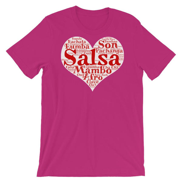Heart of Salsa - Women's T-Shirt (Berry)