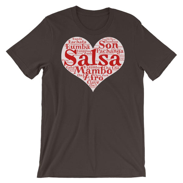 Heart of Salsa - Women's T-Shirt (Brown)