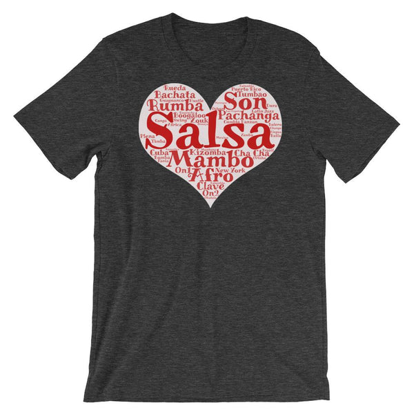 Heart of Salsa - Women's T-Shirt (Dark Grey Heather)