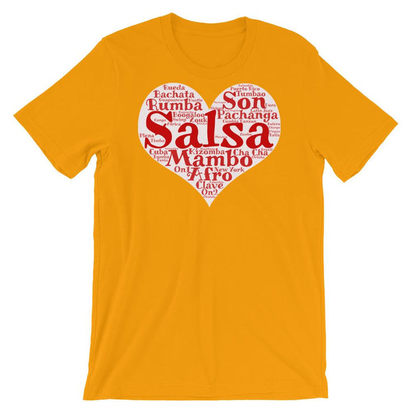 Heart of Salsa - Women's T-Shirt (Gold)