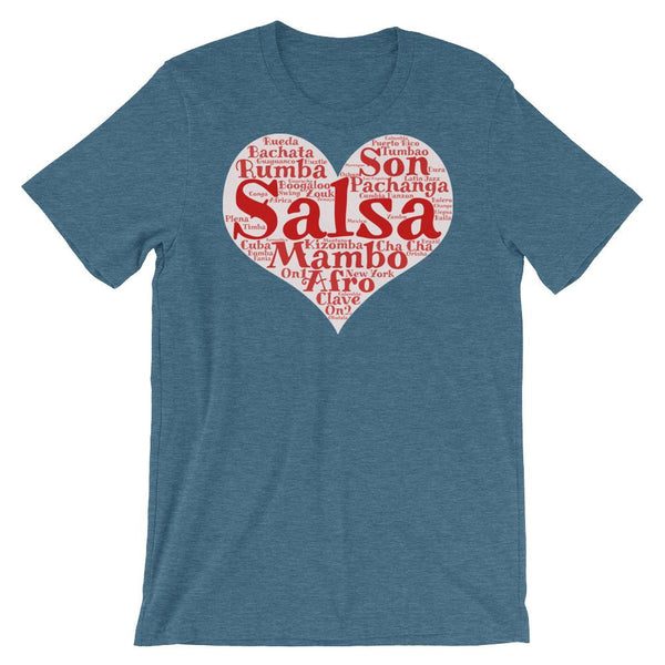 Heart of Salsa - Women's T-Shirt (Heather Deep Teal)