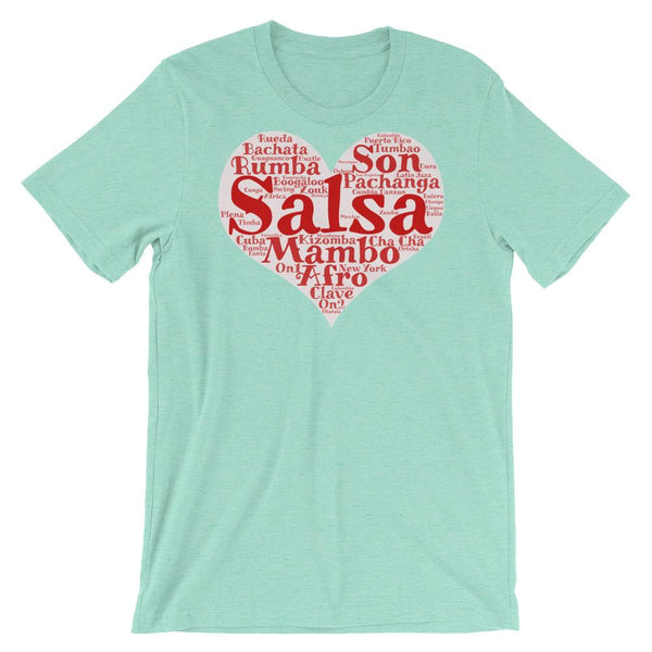 Heart of Salsa - Women's T-Shirt (Heather Mint)
