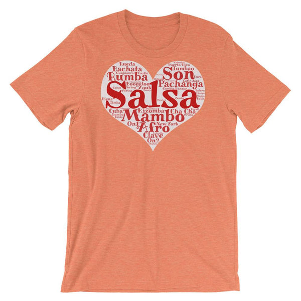 Heart of Salsa - Women's T-Shirt (Heather Orange)