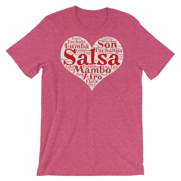 Heart of Salsa - Women's T-Shirt (Heather Raspberry)