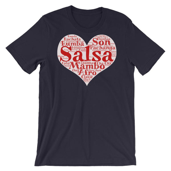 Heart of Salsa - Women's T-Shirt (Navy)