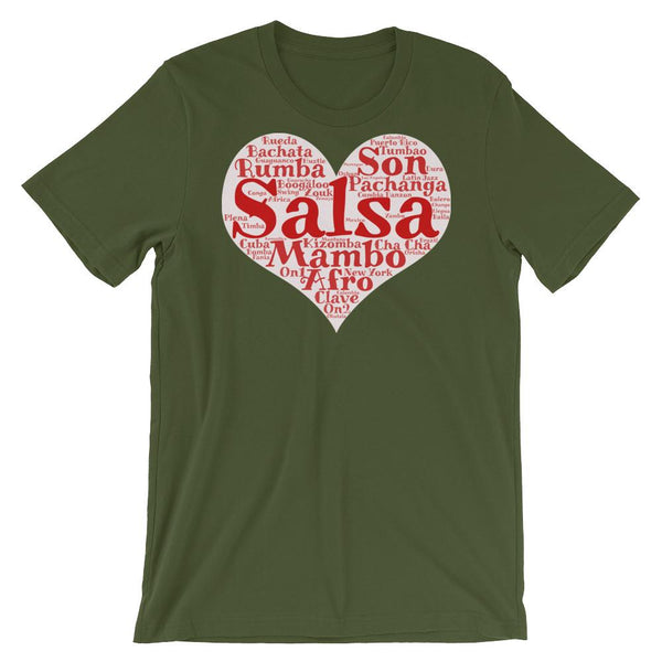 Heart of Salsa - Women's T-Shirt (Olive)
