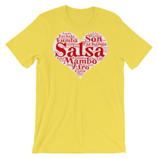 Heart of Salsa - Women's T-Shirt (Yellow)