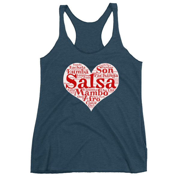 Heart of Salsa - Women's Tank Top (Indigo)
