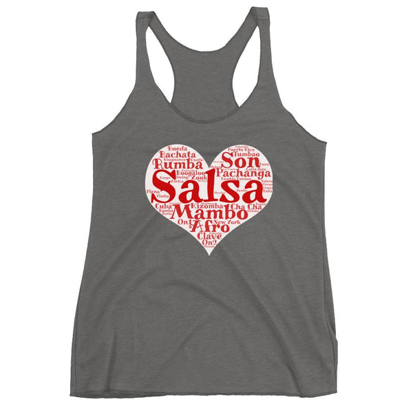 Heart of Salsa - Women's Tank Top (Premium Heather)