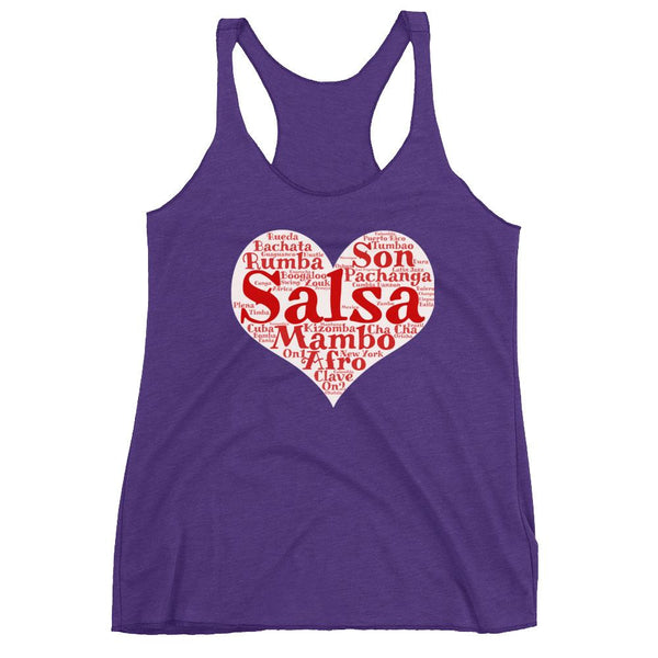 Heart of Salsa - Women's Tank Top (Purple Rush)