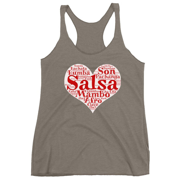 Heart of Salsa - Women's Tank Top (Venetian Grey)