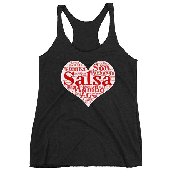 Heart of Salsa - Women's Tank Top (Vintage Black)