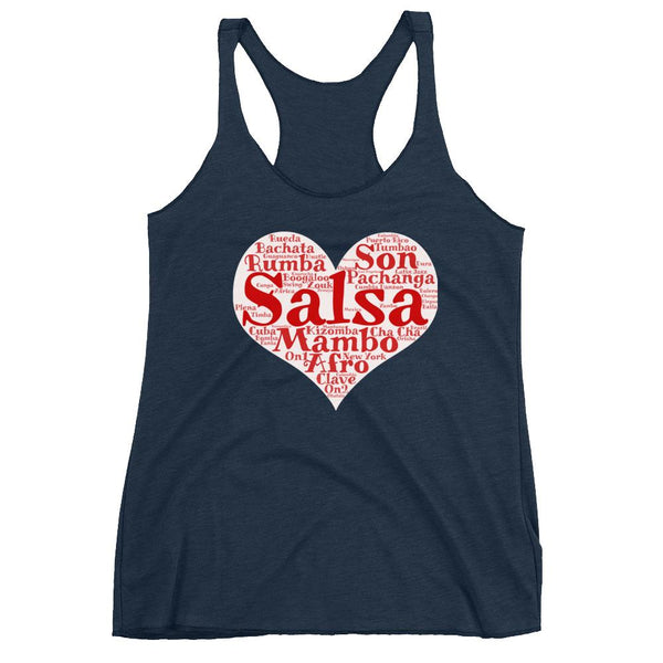 Heart of Salsa - Women's Tank Top (Vintage Navy)