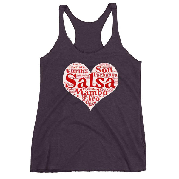 Heart of Salsa - Women's Tank Top (Vintage Purple)