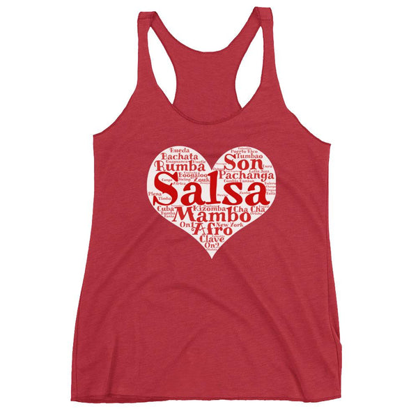 Heart of Salsa - Women's Tank Top (Vintage Red)
