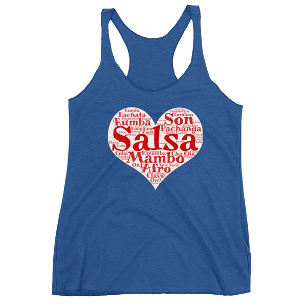 Heart of Salsa - Women's Tank Top (Vintage Royal)