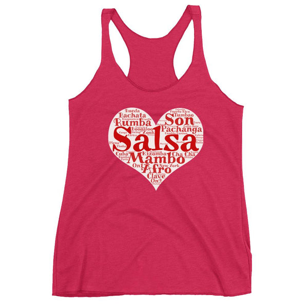 Heart of Salsa - Women's Tank Top (Vintage Shocking Pink)