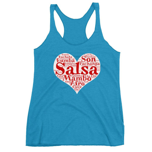 Heart of Salsa - Women's Tank Top (Vintage Turquoise)