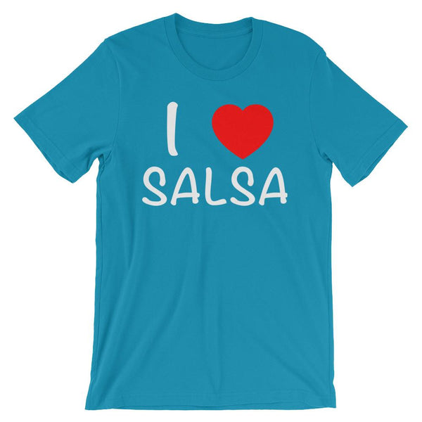 I Heart Salsa - Men's T-Shirt (Aqua)
