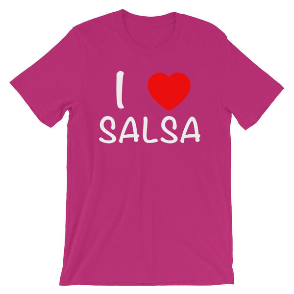 I Heart Salsa - Men's T-Shirt (Berry)