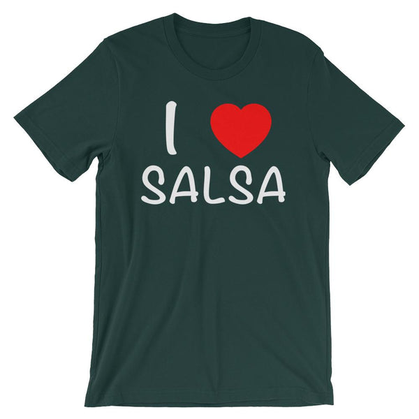 I Heart Salsa - Men's T-Shirt (Forest)