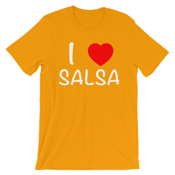 I Heart Salsa - Men's T-Shirt (Gold)