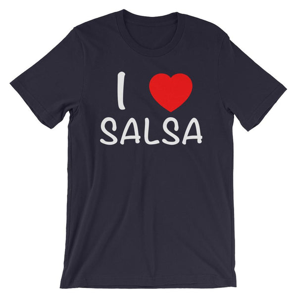 I Heart Salsa - Men's T-Shirt (Navy)
