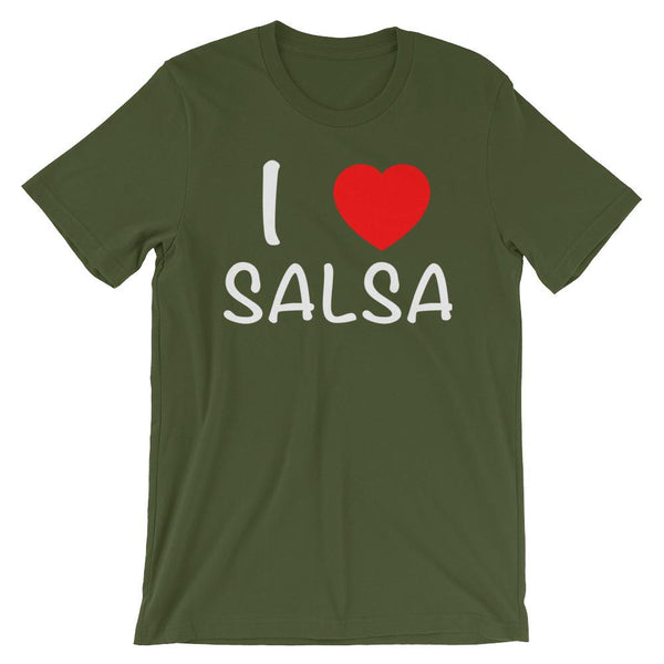 I Heart Salsa - Men's T-Shirt (Olive)
