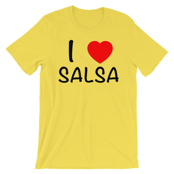 I Heart Salsa - Men's T-Shirt (Yellow)