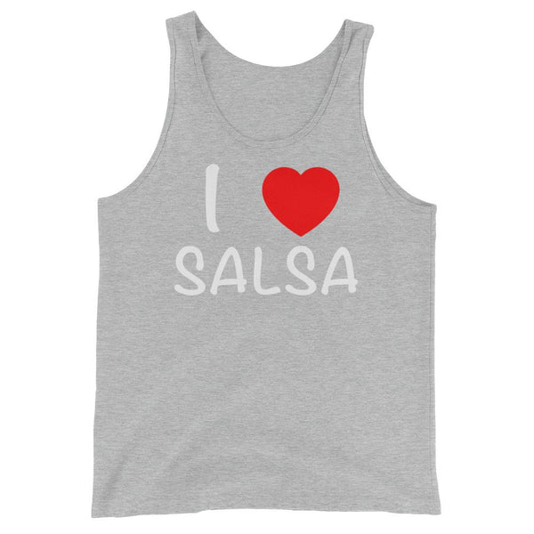 I Heart Salsa - Men's Tank Top (Athletic Heather)