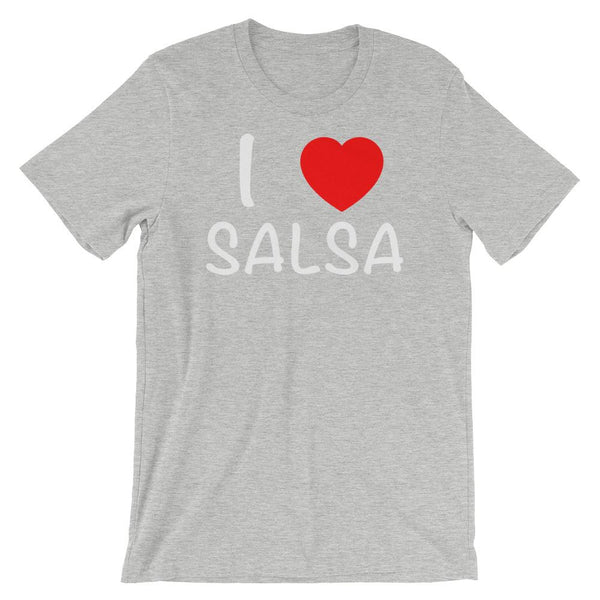 I Heart Salsa - Women's T-Shirt (Athletic Heather)