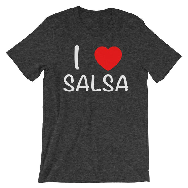 I Heart Salsa - Women's T-Shirt (Dark Grey Heather)
