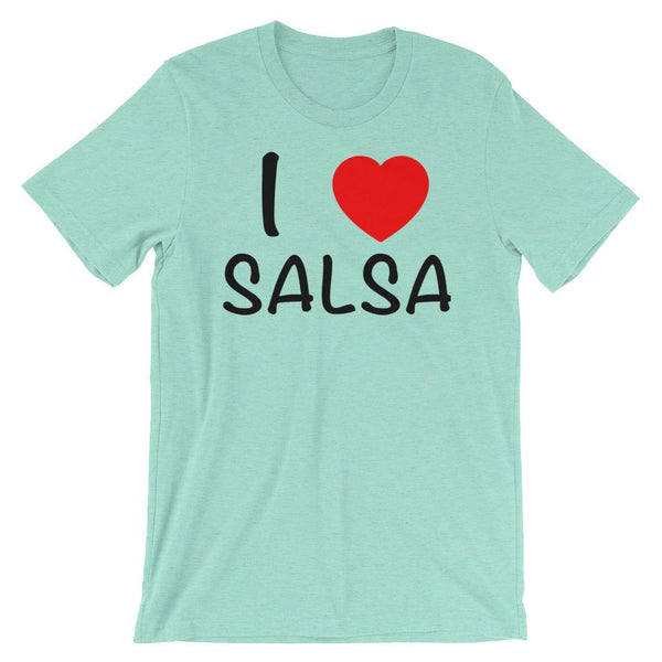 I Heart Salsa - Women's T-Shirt (Heather Mint)