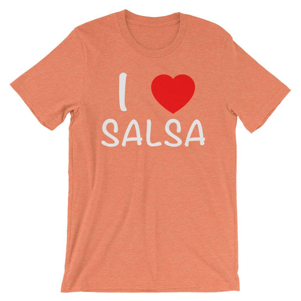 I Heart Salsa - Women's T-Shirt (Heather Orange)