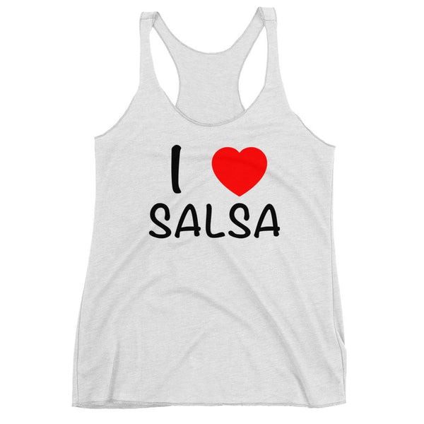I Heart Salsa - Women's Tank Top (Heather White)