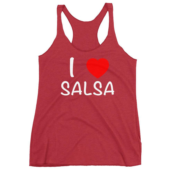 I Heart Salsa - Women's Tank Top (Vintage Red)