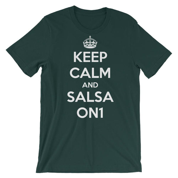 Keep Calm and Salsa On 1 - Men's T-Shirt (Forest)