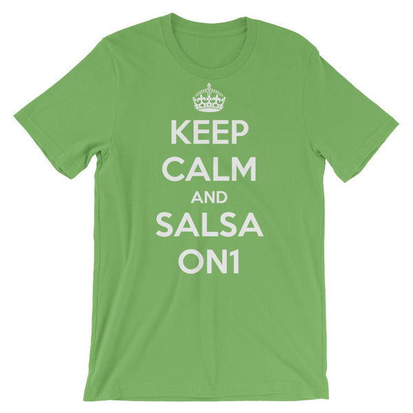 Keep Calm and Salsa On 1 - Men's T-Shirt (Leaf)
