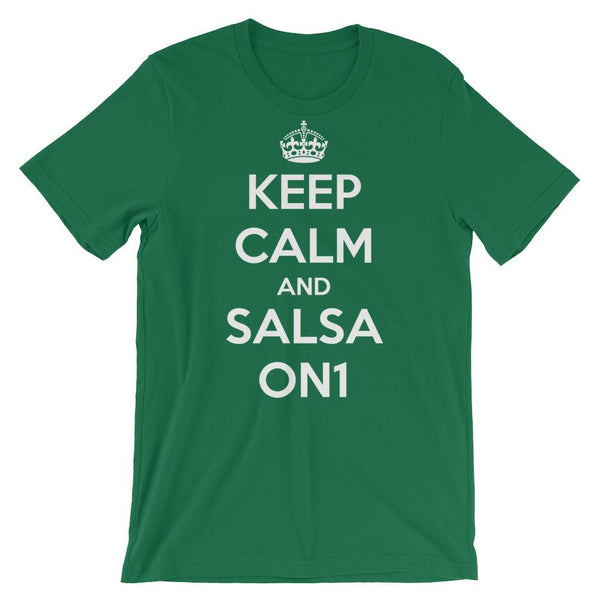 Keep Calm and Salsa On 1 - Women's T-Shirt (Kelly)