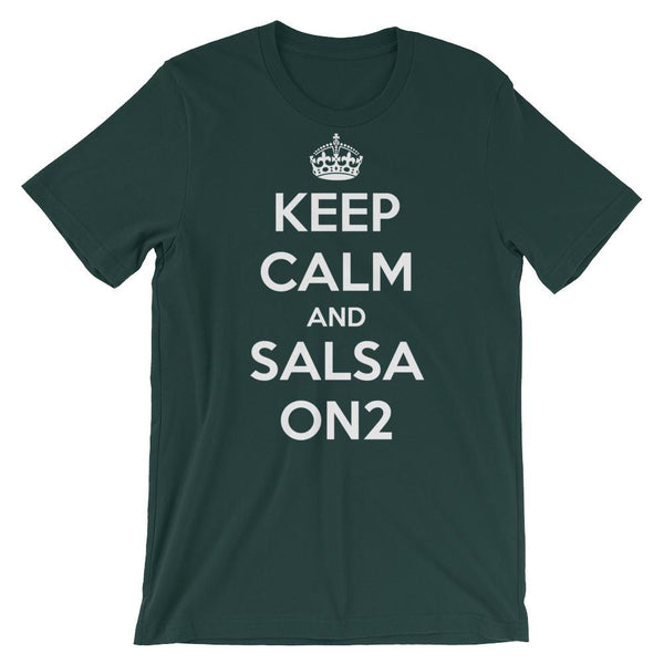 Keep Calm and Salsa On 2 - Men's T-Shirt (Forest)