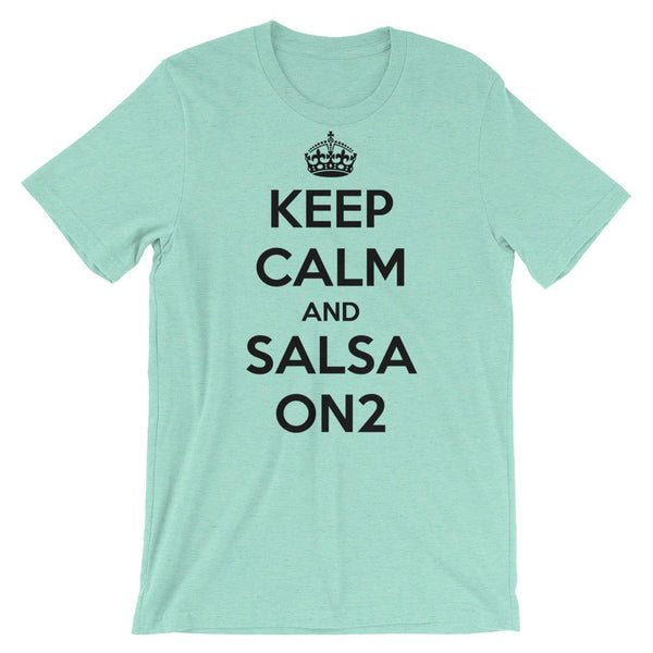 Keep Calm and Salsa On 2 - Men's T-Shirt (Heather Mint)