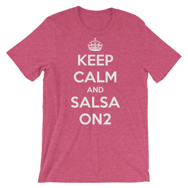 Keep Calm and Salsa On 2 - Men's T-Shirt (Heather Raspberry)