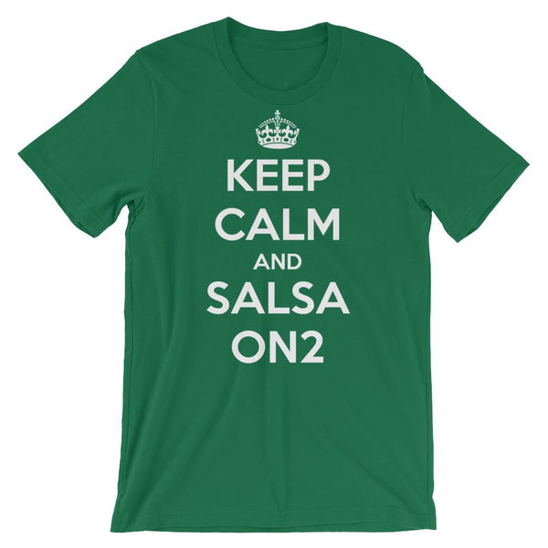 Keep Calm and Salsa On 2 - Men's T-Shirt (Kelly)