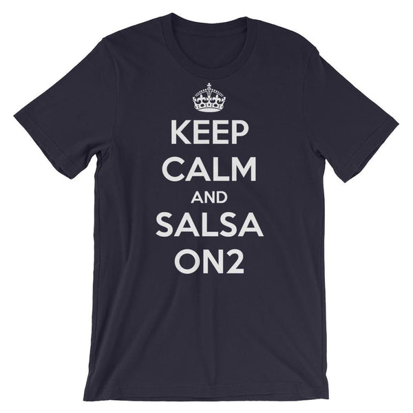 Keep Calm and Salsa On 2 - Men's T-Shirt (Navy)