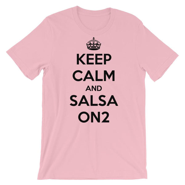 Keep Calm and Salsa On 2 - Men's T-Shirt (Pink)