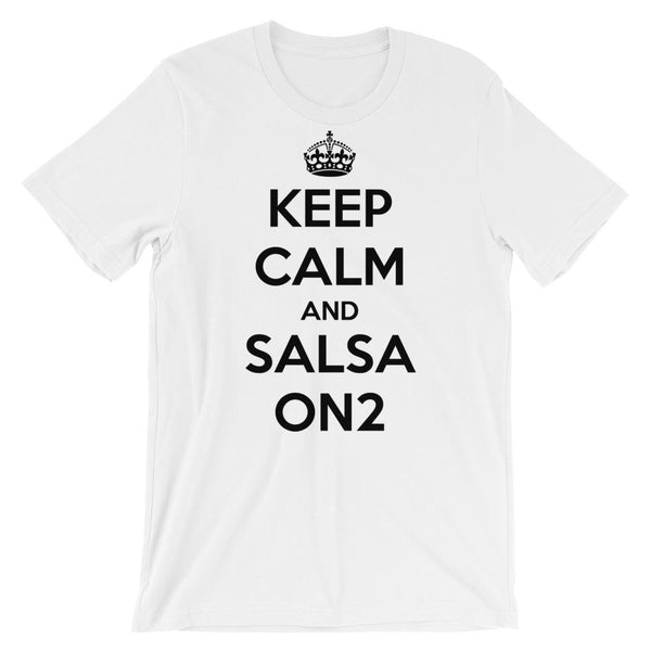 Keep Calm and Salsa On 2 - Men's T-Shirt (White)