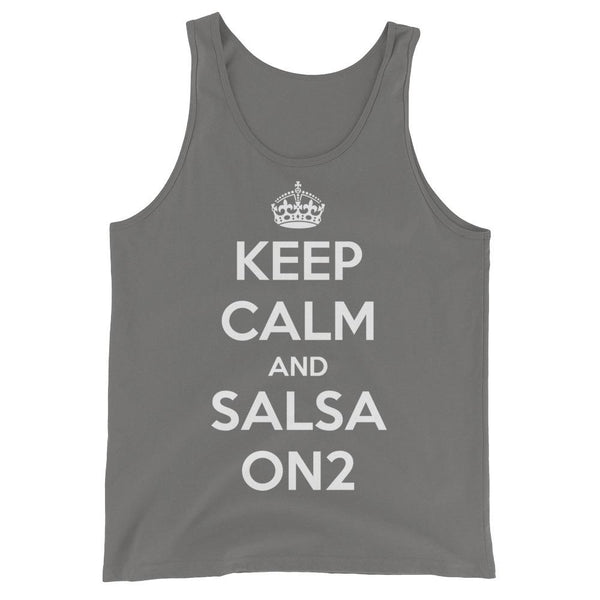 Keep Calm and Salsa On 2 - Men's Tank Top (Asphalt)