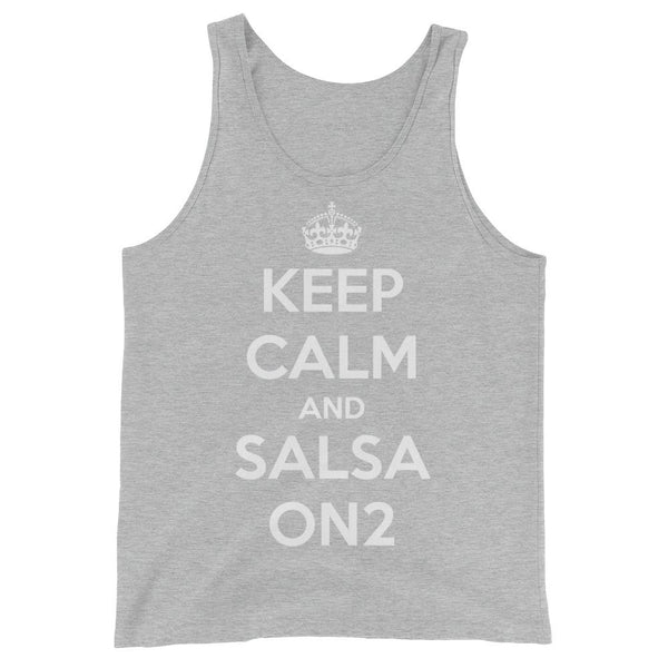 Keep Calm and Salsa On 2 - Men's Tank Top (Athletic Heather)