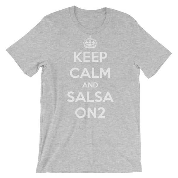 Keep Calm and Salsa On 2 - Women's T-Shirt (Athletic Heather)